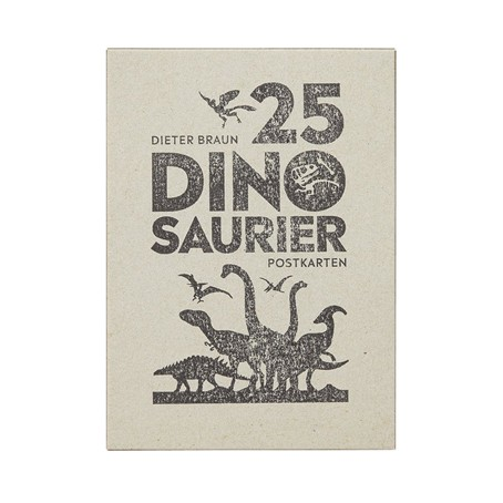 25 Dinosaurier Postkarten