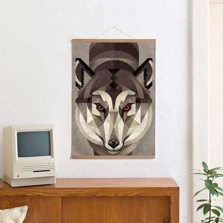Set / Wolf + Posterleiste Eiche 50 cm /SALE