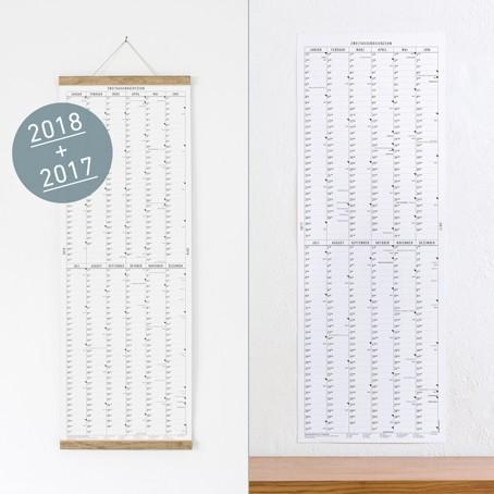 SET: Der lange Wandkalender 2017 + 2018 + Posterleiste