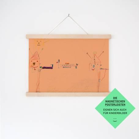 Magnetische Posterleiste / Bilderleiste Ahorn A2