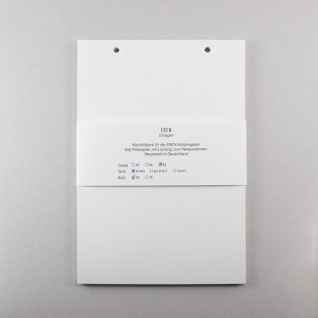 Einlagen für EBEN Mappe A5 – Blanko