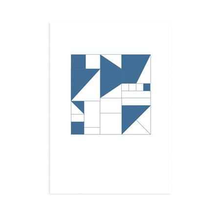 Postkarte_Geometrisch_blau