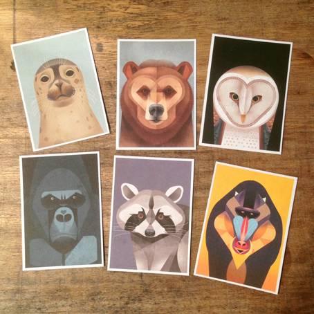 Braun Postkarten