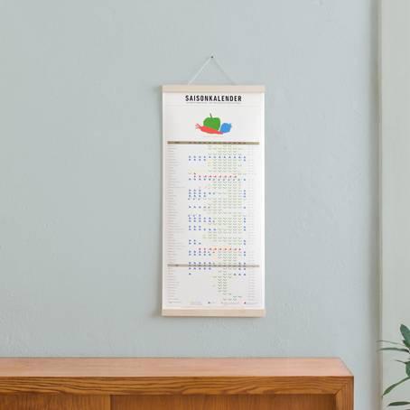 Set 1 (Ahorn) / Saisonkalender + Magnetische Posterleiste Ahorn A3