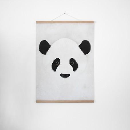 Set / Giant Panda + Posterleiste Eiche 50 cm