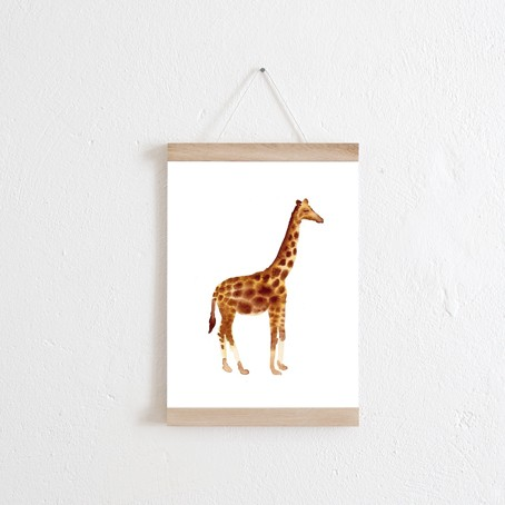 Set / Giraffe + Posterleiste Eiche A4