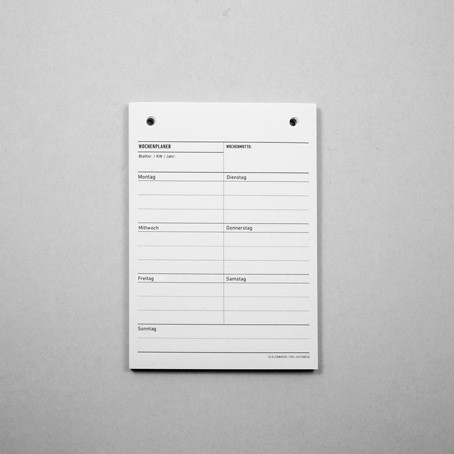 Einlagen für EBEN Mappe A6 – Wochenplaner