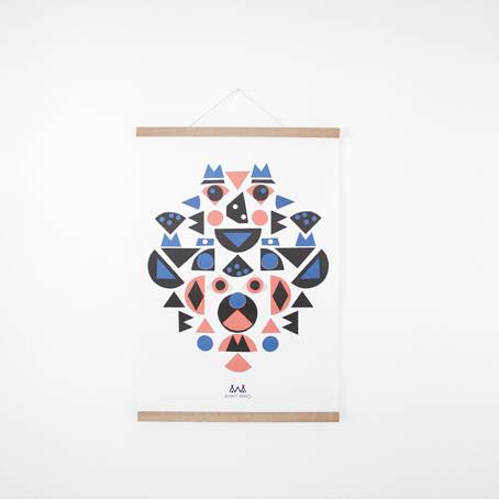 kids-shape_poster+posterleiste_eiche_a2