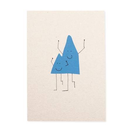 Postkarte-Bergmänner