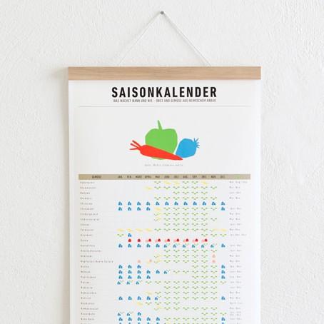 Set / Saisonkalender + Posterleiste Eiche A3