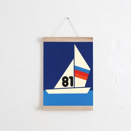 Set / Sailing Regatta 81 + Posterleiste Eiche A4