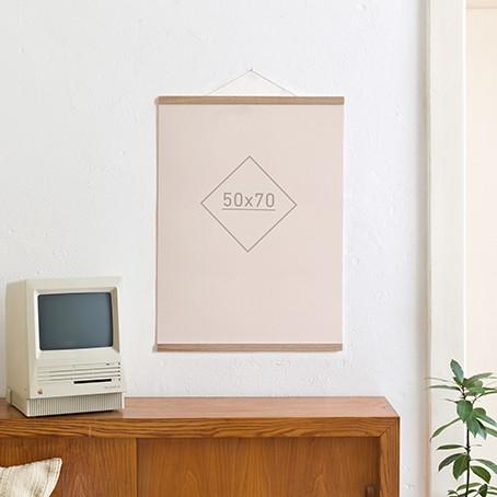 Magnetische Posterleiste / Bilderleiste Eiche 50 cm