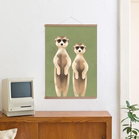 Set / Meerkats + Posterleiste Eiche 50 cm