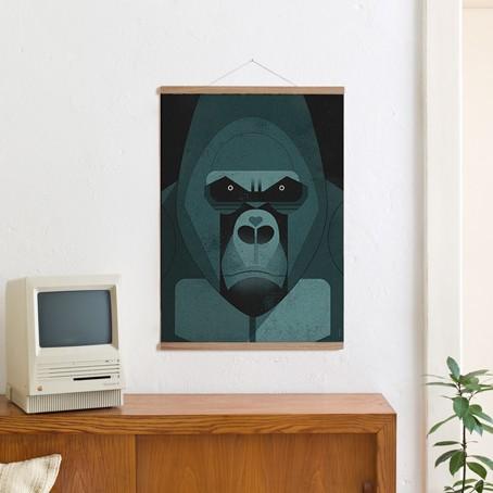 Set / Gorilla Love + Posterleiste Eiche 50cm