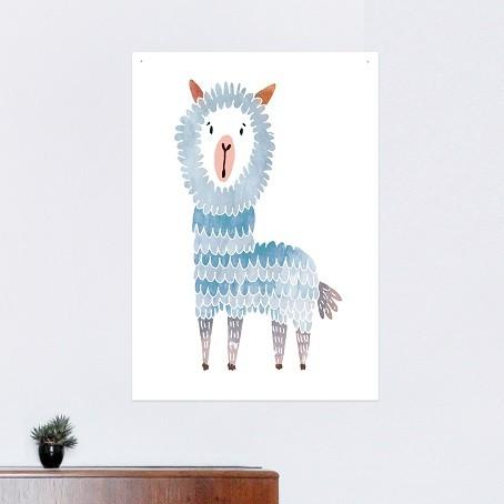 Alpaka Poster (blau)