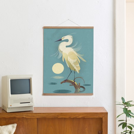 Set / Little Egret + Posterleiste Eiche 50 cm