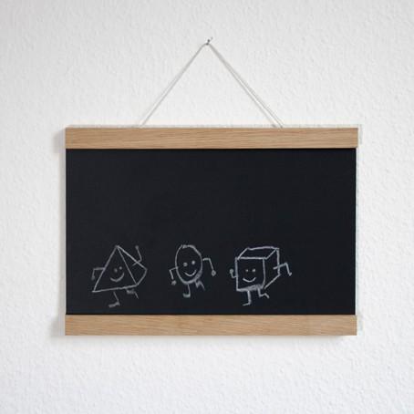 Set / Das Tafelposter + Posterleiste Eiche A3