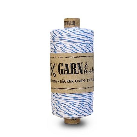 Bäcker-Garn / Regattablau-Weiss