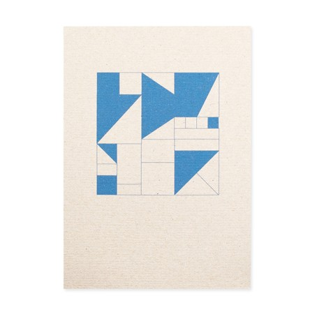 Geometrisch blau