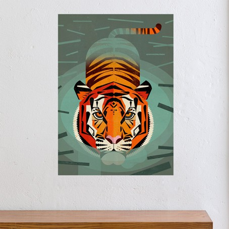 Swimming Tiger / SALE