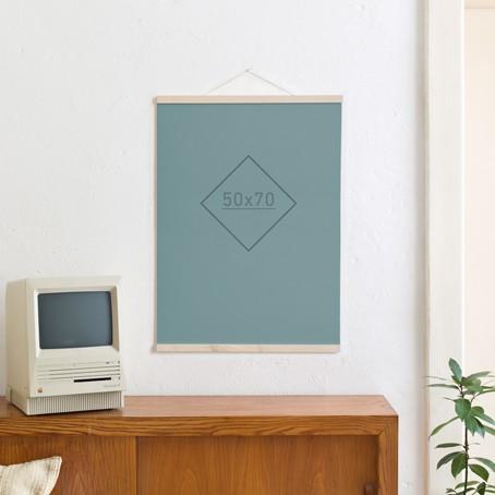 Magnetische Posterleiste / Bilderleiste Ahorn 50 cm
