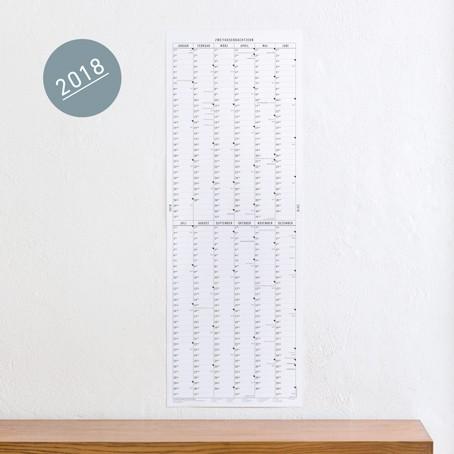 Der lange Wandkalender 2018 / SALE
