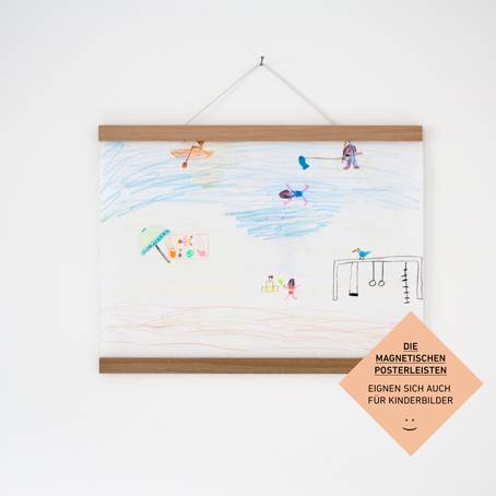 Magnetische Posterleiste / Bilderleiste Eiche A2