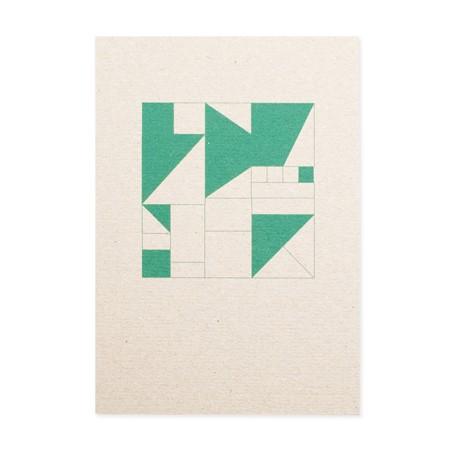 Geometrisch grün