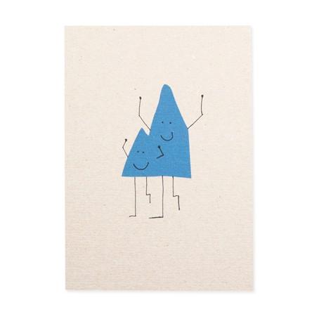 Postkarte Bergmänner