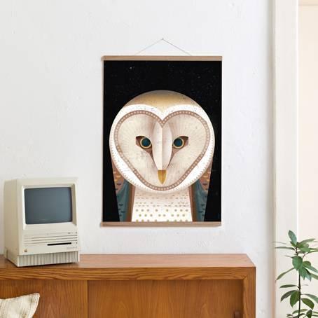 Set / Barn Owl + Posterleiste Eiche 50 cm