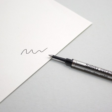 Tintenrollermine Schwarz F
