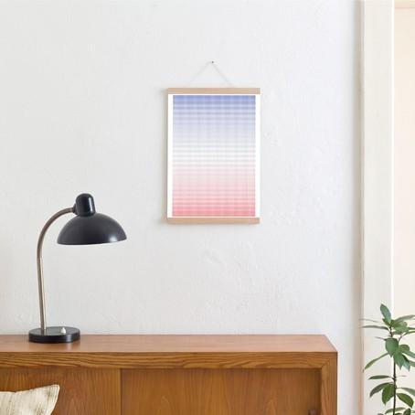Set / Blue vs. Red + Posterleiste Eiche A3