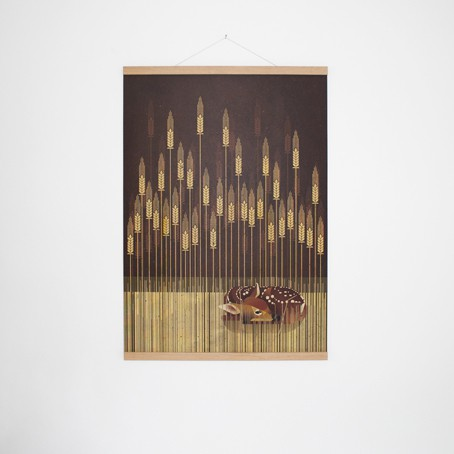Set / Fawn + Posterleiste Eiche 50 cm