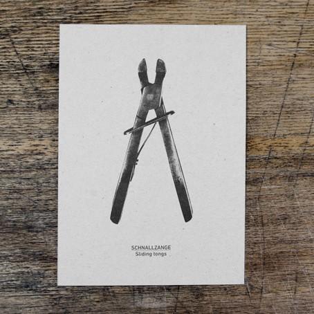 Postkarte Schnallzange