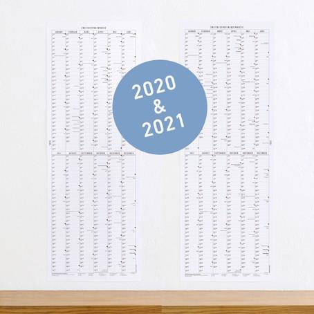 SET: Der lange Wandkalender 2020 & 2021