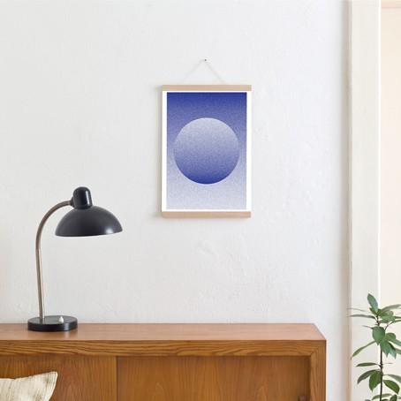 Set / Circle + Posterleiste Eiche A3